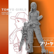 1/24  Resin Kit Girl Soldier