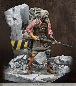 1/24 future soldier find with base. Unassembled resin
