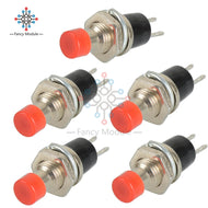 5 pcs Push button Red/Black/Blue Mini Momentary: Model Hydro Buttons