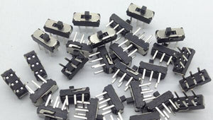 10pcs MINI Miniature Slide Switch 6Pin for DIY Electronic Accessories