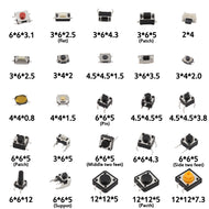 125pcs 25Types/lot Switches Assorted Micro Push Button Tact Switch Reset Mini Leaf Switch SMD DIP 2*4 3*6 4*4 6*6 diy kit