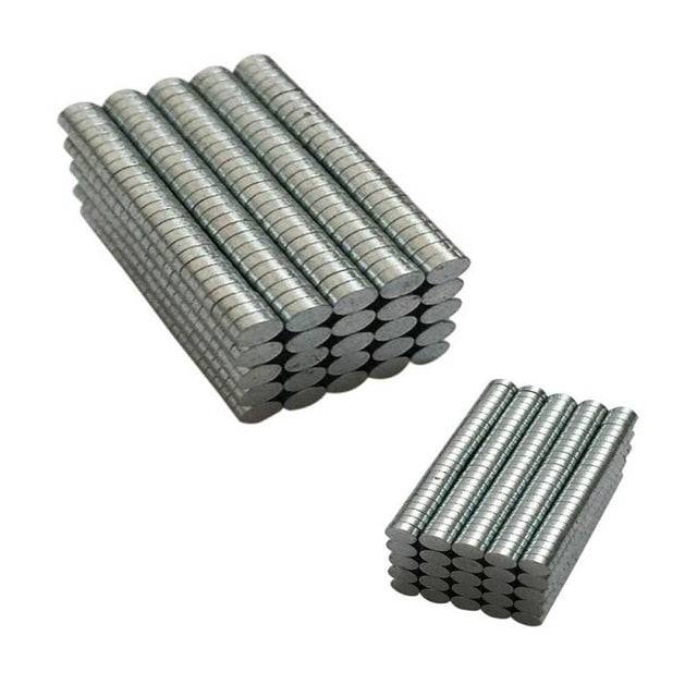 Lot of 200 set Round Neodymium Disc Magnets Dia 3mm x 1mm N50 Super Powerful. Awesome Deal.