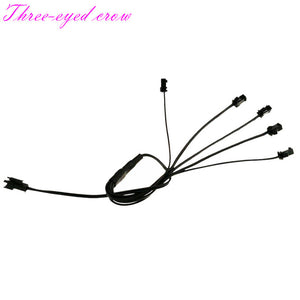 5/4/3/2 in 1 Splitter Cable  2M  Extension Cable Car Decor For EL Wire Neon Light LED Rope Strip Light Conected With Inverter