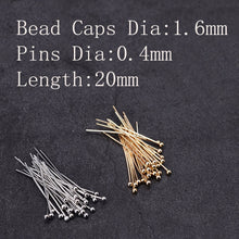 Load image into Gallery viewer, Sale 100pcs/lot Round Head Pins: great for shift knobs/levers