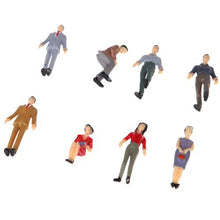 Load image into Gallery viewer, 50pcs G Scale Mix Painted Model People Train Park Street Passenger Figures