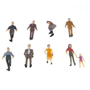 50pcs G Scale Mix Painted Model People Train Park Street Passenger Figures