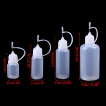 Load image into Gallery viewer, 5-50ml Empty Plastic Needle Tip Childproof Cap Dropper Liquid Juice Bottles Portable Liquid Container Refillable Bottles Clear