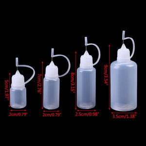 5-50ml Empty Plastic Needle Tip Childproof Cap Dropper Liquid Juice Bottles Portable Liquid Container Refillable Bottles Clear