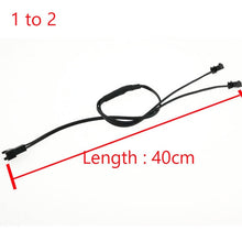 Load image into Gallery viewer, 40CM 5/4/3/2 in 1 Splitter Cable For EL Wire Neon Light LED Rope Strip Light Conected With Inverter
