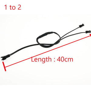 40CM 5/4/3/2 in 1 Splitter Cable For EL Wire Neon Light LED Rope Strip Light Conected With Inverter