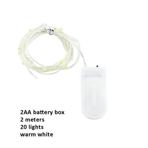 LED Light String 2032 Button Battery Box String Light Flower Cake Christmas Decoration Lantern
