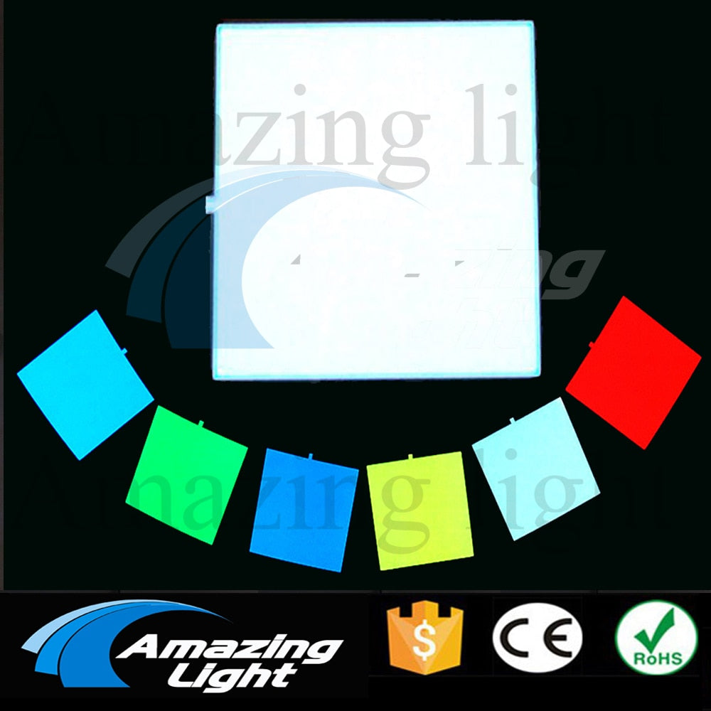 10X10CM EL Backlight Electroluminescent panel El foil lighting paper Led Board Display with Inverter