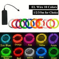 EL Wire Neon Light Dance Party Decor car Lights Neon LED strips Flexible 2.3MM string DIY Rope Tube Strip