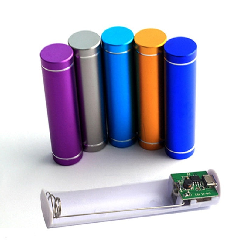 without Battery Aluminum 2600mAh Power Bank Box 1*18650 Power Bank DIY Kit Mini Power Bank Box