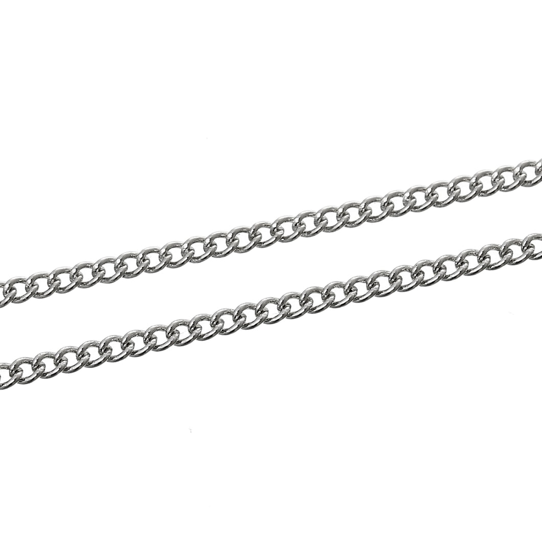Silver Chain 2mm x 1.5mm, 2M: Chain Steering Wheels, Dioramas, Chain Bridges