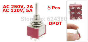 5 Pcs / Lot Momentary Toggle Switch 6 Pin 6mm Mounting