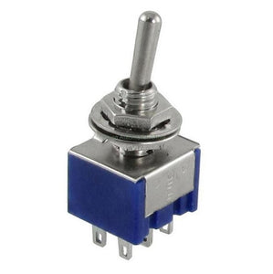 Single Locking Toggle: DPDT ON-OFF-ON 3 Positions 6 pin. Great for accessory add-ons like lighting