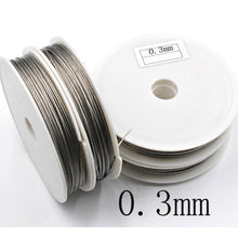 Load image into Gallery viewer, Stainless Steel Wire 0.3/0.38/0.45/0.5/0.6/0.7/0.8mm