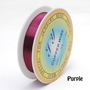 Anodized 24 gauge wire. 10 color options. Great for hard line detailing. 23 feet. 0.5mm.