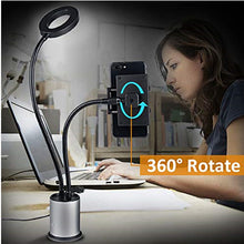 Load image into Gallery viewer, Dimmable LED Studio Camera Ring Light Photo Video Light Ring Lamp With Suction Cup