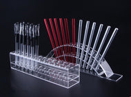 Acrylic Racks for Paint Brushes, Hobby Knifes, Markers, Pens, Files