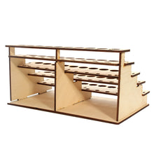 Load image into Gallery viewer, Pigment Bottle Storage Organizer Wooden Color Paint Ink Brush Stand Rack Modular Holder Home School Drawing Tool Organizer