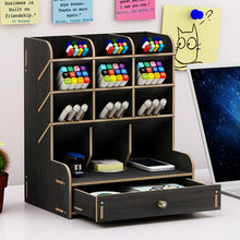 Load image into Gallery viewer, Multi-function Wooden Desktop Organizer