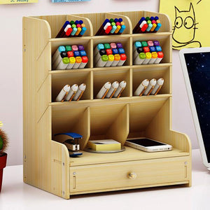 Multi-function Wooden Desktop Organizer