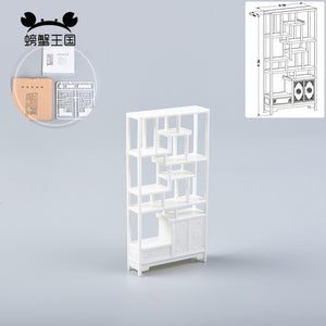 5pcs 1:25 Chinese Style Plastic Ancient Shelf
