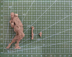 1/24  Zombie Resin figure Model kits Miniature Unpainted