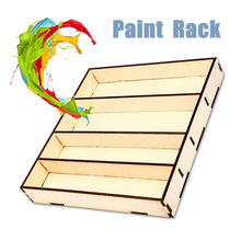 Load image into Gallery viewer, Bamboo Paint Rack 311x290x45mm
