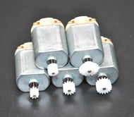 Mini Hobby Motors for Model Car Hydros:  5PCS w/ Gears
