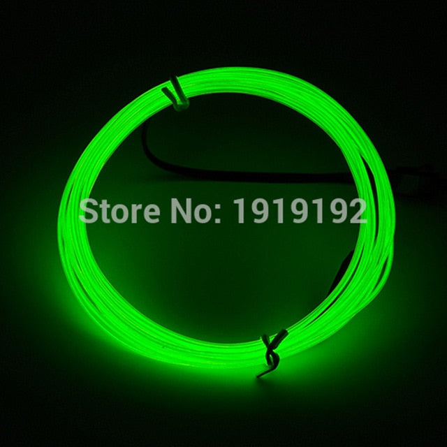 Thinnest Scale Neon 1.2mm 10 Color Choice EL Wire Rope Tube Flexible Neon Light Not Include The Controller For Festival Party Decoration