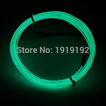 Load image into Gallery viewer, Thinnest Scale Neon 1.2mm 10 Color Choice EL Wire Rope Tube Flexible Neon Light Not Include The Controller For Festival Party Decoration