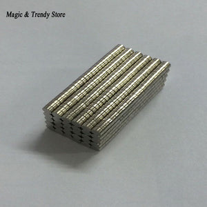 200 Pcs Mini 2x1 mm N50 Permanent Strong Neodymium NdFeB Magnet Bulk Magnets