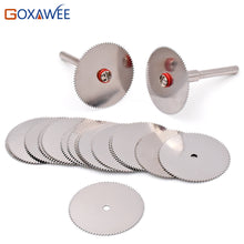 Load image into Gallery viewer, Rotary Cutting wheels for Dremel Tools Accessories 10pcs dremel Discs with 2pcs Mandrels  22/25/32mm