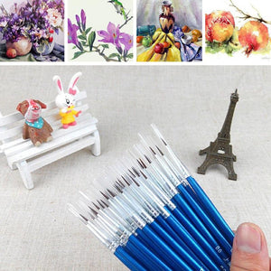10 Piece Set of Fine Paint Brushes