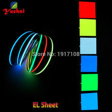Load image into Gallery viewer, 6 Colors Choice 10X10CM EL sheet EL panel for dispaly,holiday,car,house,model ,Festival and Party DIY Decoration without Driver
