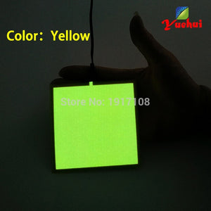 6 Colors Choice 10X10CM EL sheet EL panel for dispaly,holiday,car,house,model ,Festival and Party DIY Decoration without Driver