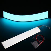 Load image into Gallery viewer, 30x5cm 12V Flexible EL Light Panel Electroluminescent Back Light Strip Lamp with Inverter *U.S. Shipper
