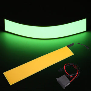 30x5cm 12V Flexible EL Light Panel Electroluminescent Back Light Strip Lamp with Inverter *U.S. Shipper