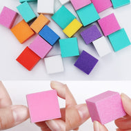 1 Bag Colorful Mini Irregular Buffers Sanding Sponge