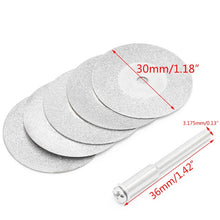 Load image into Gallery viewer, 5pcs/lot Dremel Accessories Diamond Grinding Wheel Saw Circular Cutting Disc Dremel Rotary Tool Diamond Discs