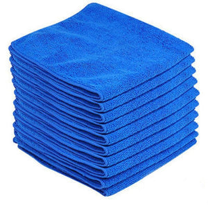 Microfiber Towel Cleaning Cloth 20*20cm Quick Dry Towel Absorbent Scouring Pad Car Auto Wash Clean Tool 1/2/4/5/10/20pcs SQ022