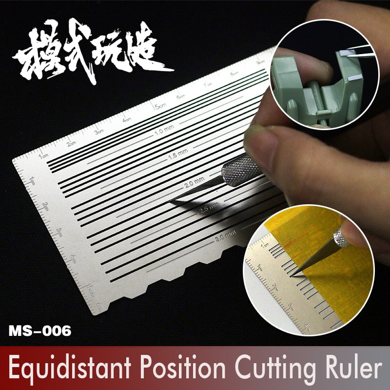 Gundam Model Transformation Upgrade Tools Equidistant Position Cutting Ruler  Modeling Hobby Craft Accessory