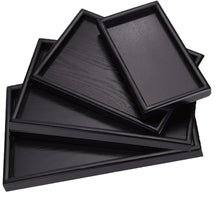 Load image into Gallery viewer, Black Tray Rectangular Wooden Diorama Base