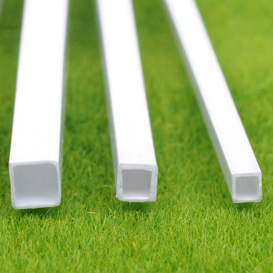 Bulk Styrene: 100pcs   3mm 4mm 5mm 6mm plastic square tube 50cm length