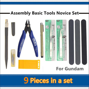 Assembly Basic Tools Set For Miniature Model Building Kits Hobby Accessory