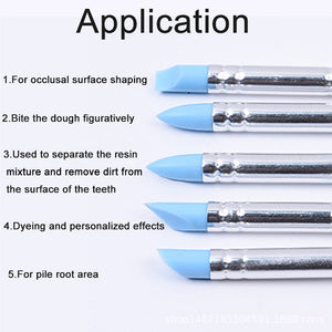 5Pcs Sculpting Pottery Engraving Clay Tools Pen Nail Art Craft Shaper Modelling Soft Silicone