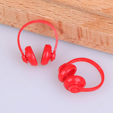 Load image into Gallery viewer, 2Pcs 1/12 Dollhouse Miniatures Plastic Wireless Earphone Headphone Doll House Decor Classic Toys for Child Kids Gift